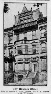 187 Hancock Street, circa 1905.
