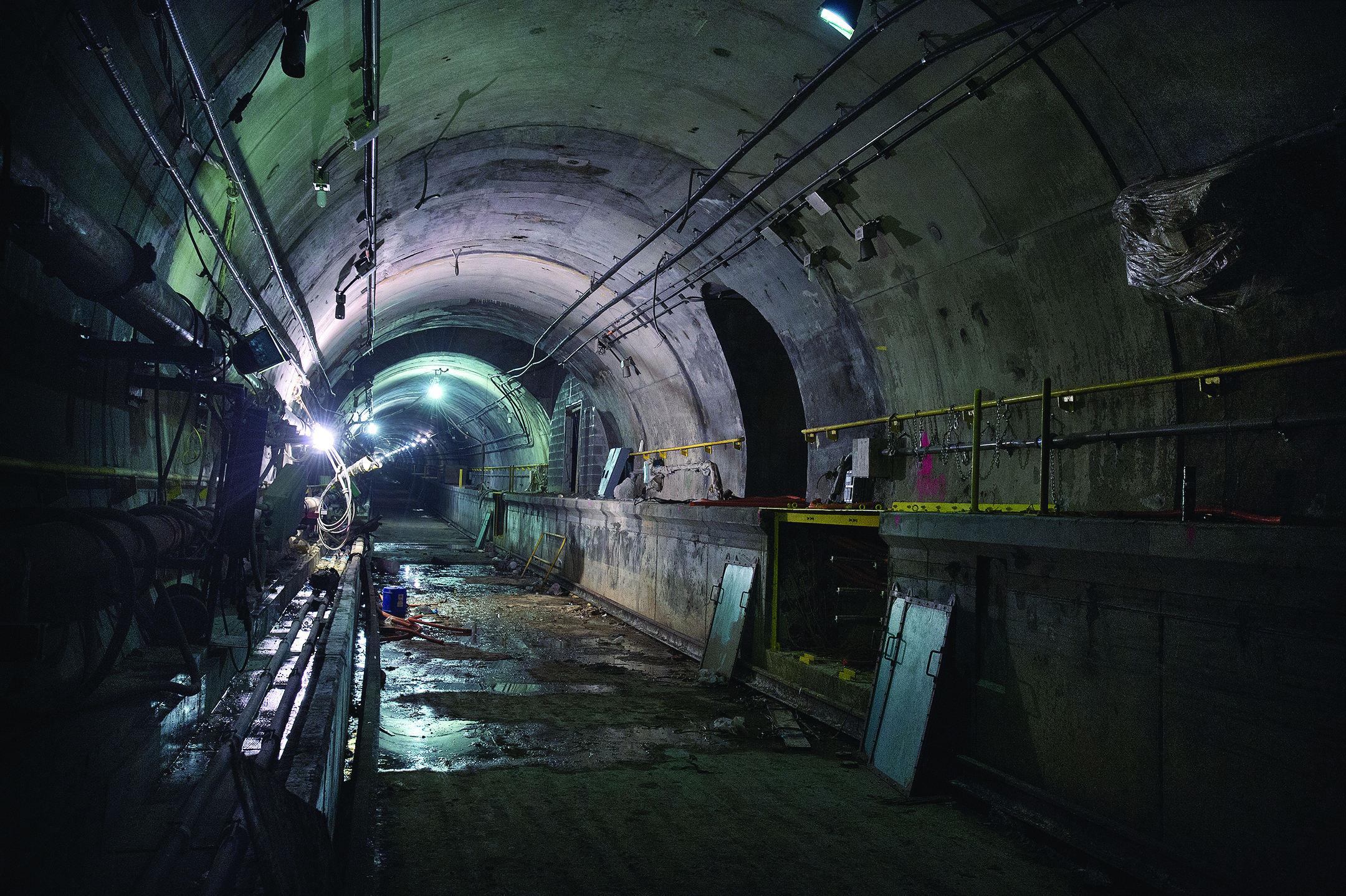Work being done at the future 72nd Street Station of Second Avenue Subway.