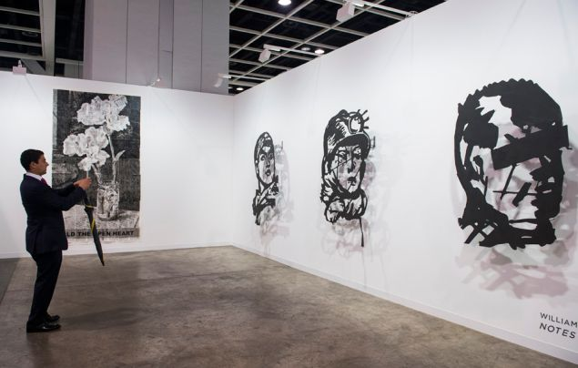 William Kentridge at Goodman Gallery, Johannesburg and Capetown. Galleries sector, Art Basel in Hong Kong 2016.