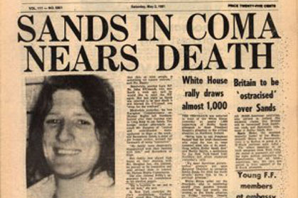 Bobby Sands' headline.