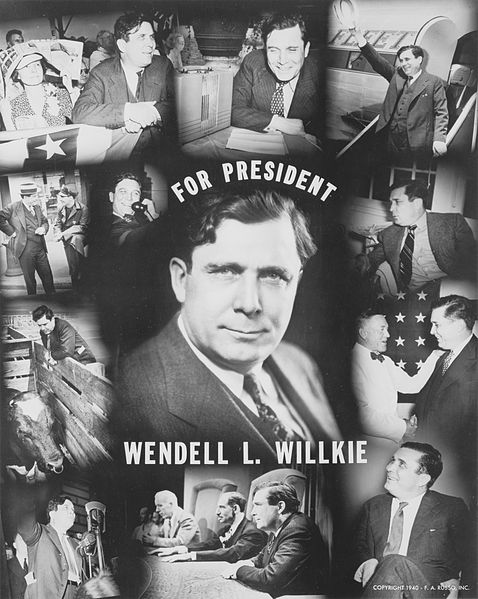 The surprise Republican candidate in 1940: Wendell Willkie.