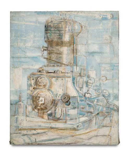 Hedda Sterne, Machine Motor Light Blue, 1951.