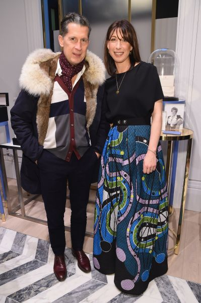 W's EIC Stefano Tonchi and Samantha Cameron