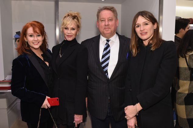 Tracy Griffith, Melanie Griffith, CEO of Smythson Mark Daley and Emily Mortimer