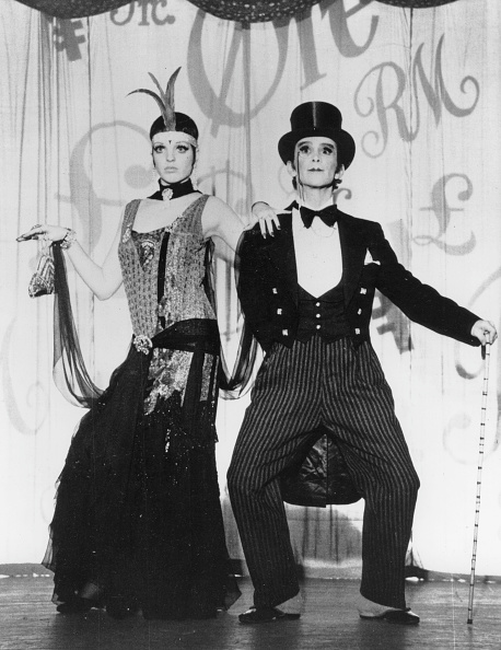 (GERMANY OUT) Minnelli, Liza (*10.03.1946-), Schauspielerin, Saengerin, USA, - mit Joel Grey in dem Film 'Cabaret', Regie: Bob Fosse, USA, - 1972