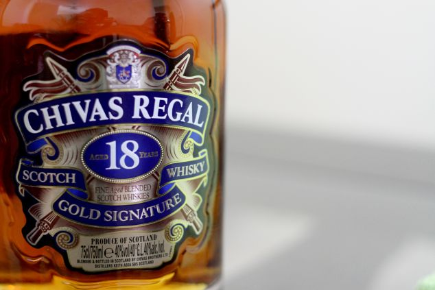 Chivas Regal 18 Year Old blended Scotch whiskey.