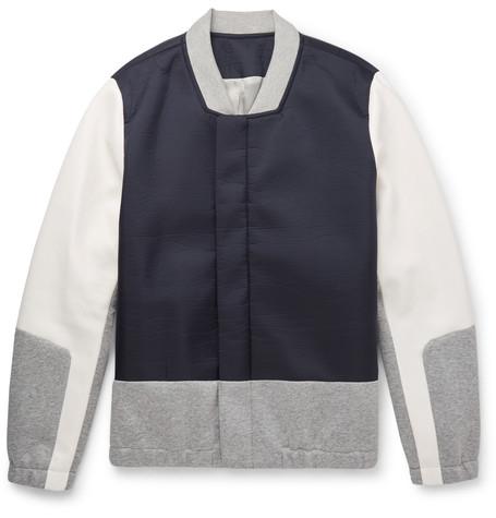 Tim Coppens Navy & Grey Tailored Bomber Jacket, $795, Ssense.com