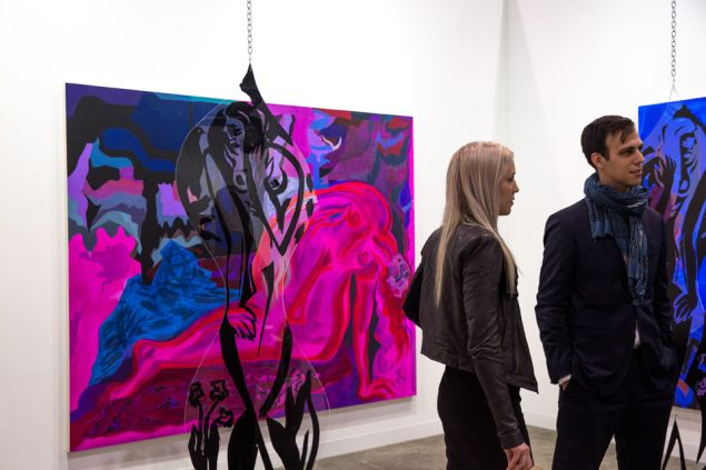 Mira Dancy at Night Gallery, Los Angeles. Discoveries sector, Art Basel in Hong Kong 2016.