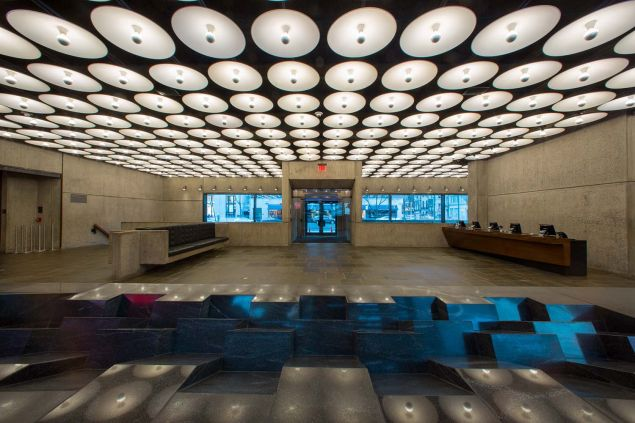 The lobby of the Met Breuer.