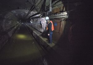 Post-Sandy damage in the L tunnel.