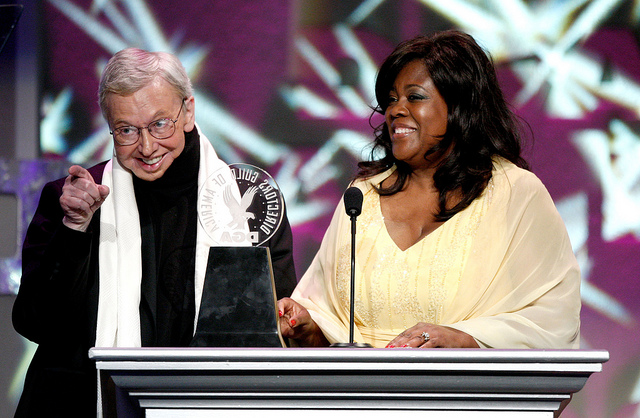 Roger and Chaz Ebert.