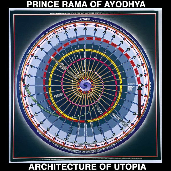 "Prince Rama teamed up with Paul Laffoley to interpret his artwork on 2010's ""The Architecture of Utopia"""
