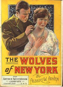 """Albert Aiken's """"The Wolves of New York,"""" a later dime novel in the """"American Detective"""" series."""