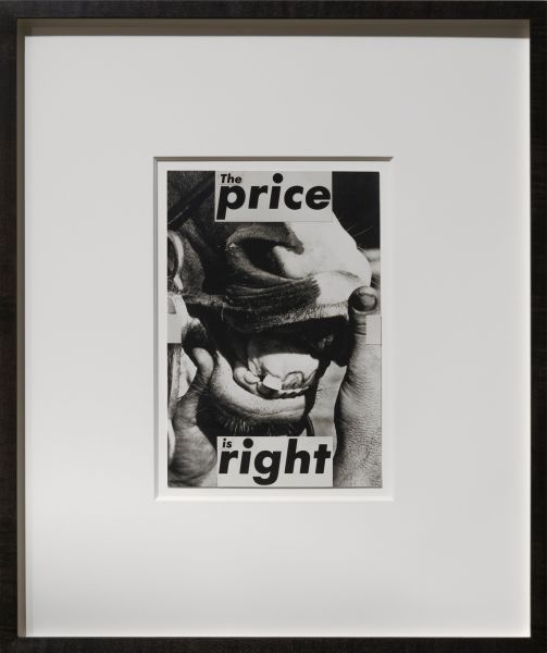 Barbara_Kruger, The price is right, (1987).