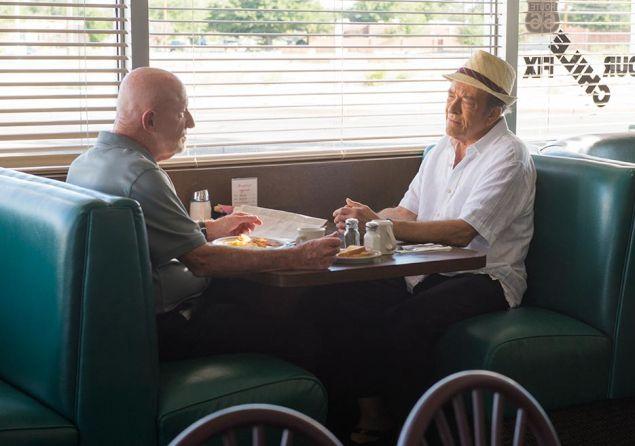 Jonathan Banks and Mark Margolis in Better Call Saul.