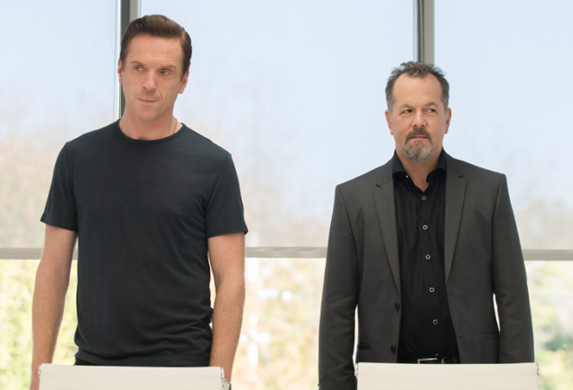 Damian Lewis and David Costabile in Billions.