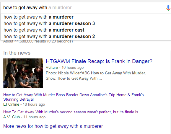 Sorry Google, but that's not an actual show.