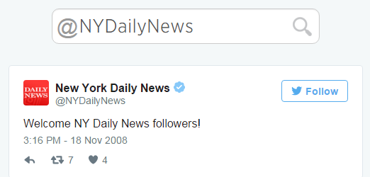 One news organization did decide to welcome followers.