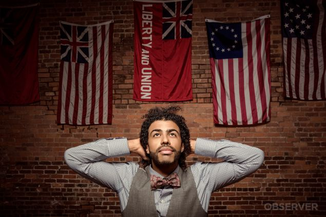 Actor/rapper Daveed Diggs of Hamilton, shot on location at Fraunces Tavern Museum.