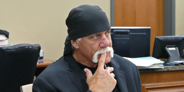 Hulk Hogan at his trial.