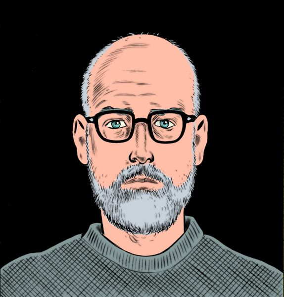 A self-portrait by Mr. Clowes.