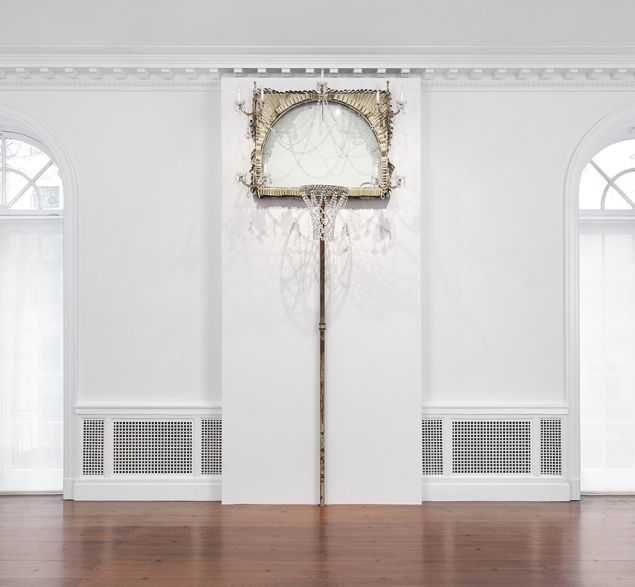 David Hammons, Basketball Chandelier, 1997.