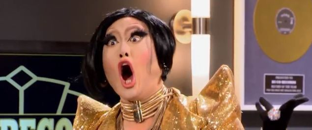"""Let me see your """"Oh-Face"""": This week on Rupaul's Drag Race."""