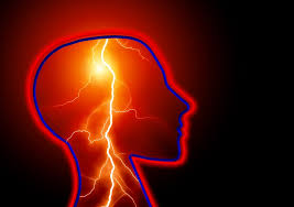 An artist's rendering of a seizure inside the brain.