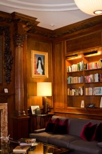 Dr. Jarecki's personal favorite room is his custom built library.