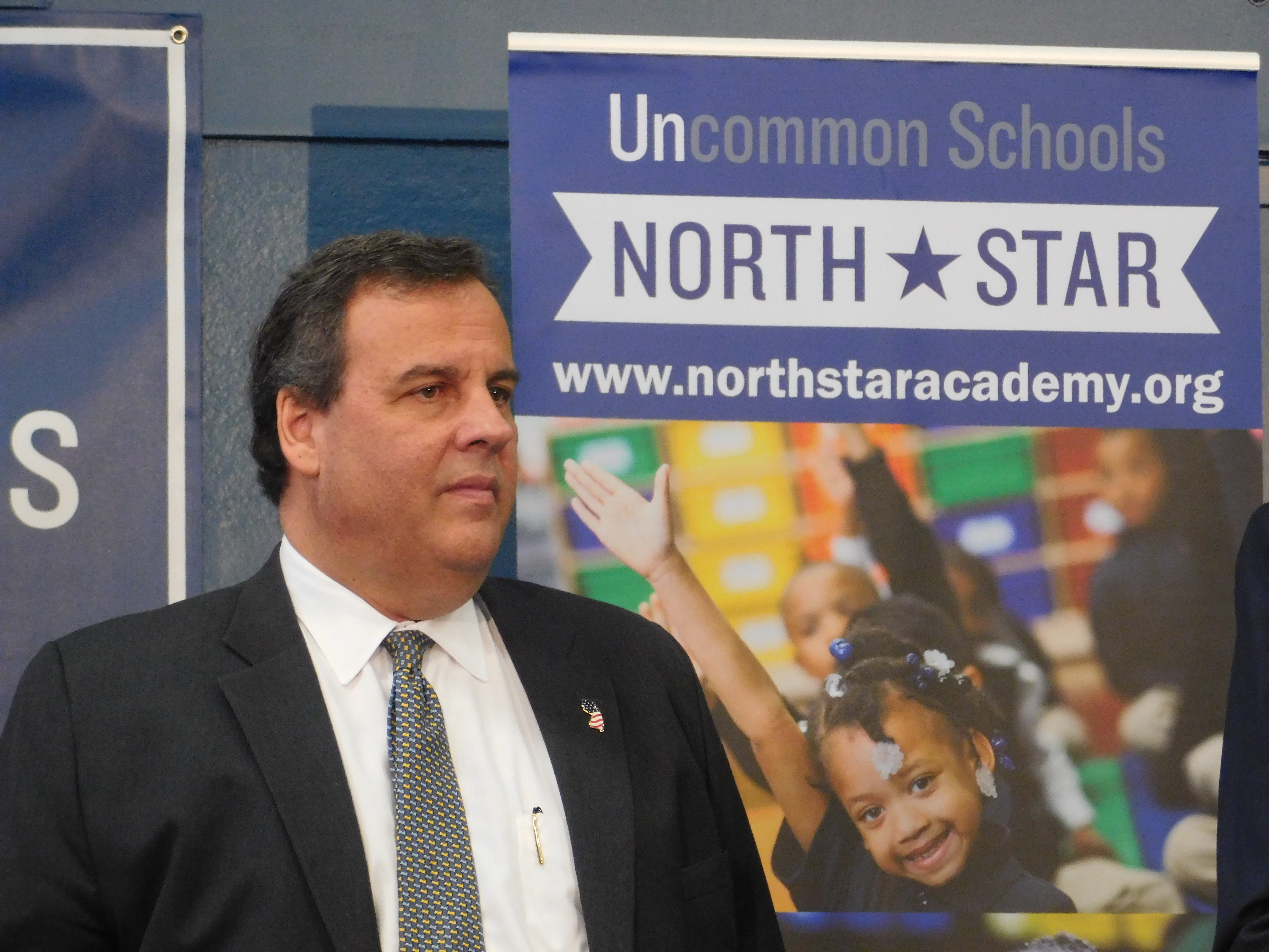 Christie supports the expansion of charter schools.