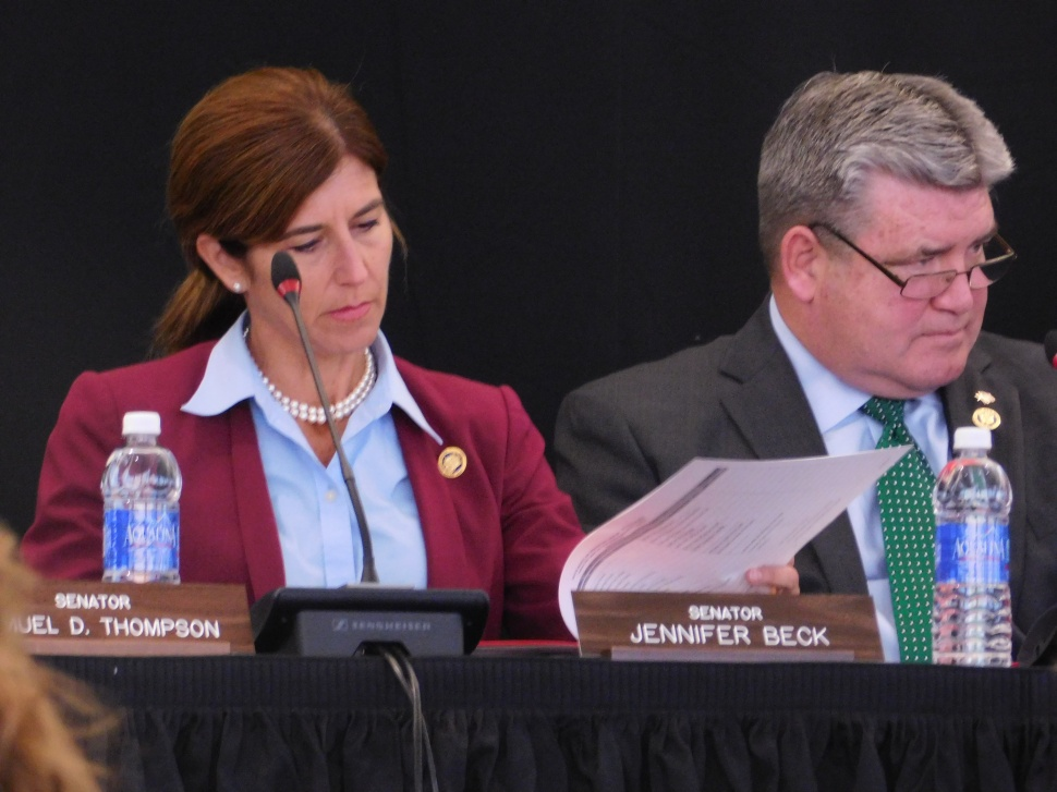Senators Jen Beck and Steven Oroho.