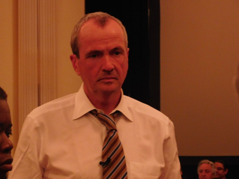 Murphy at a town hall event in Hackensack.