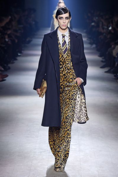 Jamie Bochert in Dries Van Noten leopard