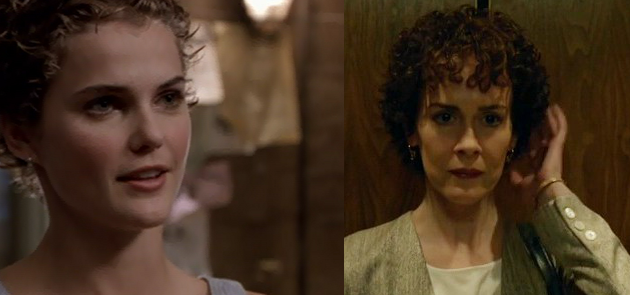 Felicity (Keri Russell) and Marcia Clark (Sarah Paulson) rocking their 90s 'dos.
