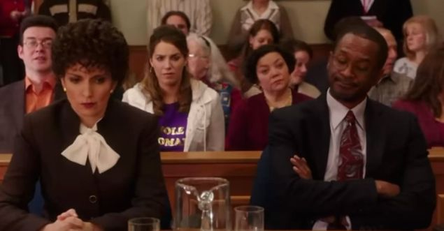 "Tina Fey as ""Marcia Clark"" on Unbreakable Kimmy Schmidt."