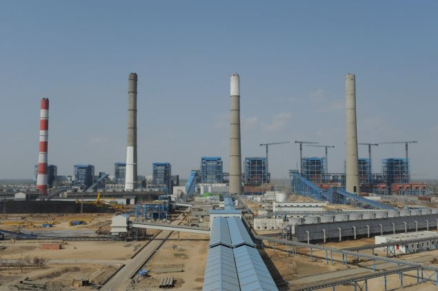 The Adani Power company thermal power plant at Mundra some 400 kms from Ahmedabad on February 18, 2011. This is India's first supercritical 660 MW unit.