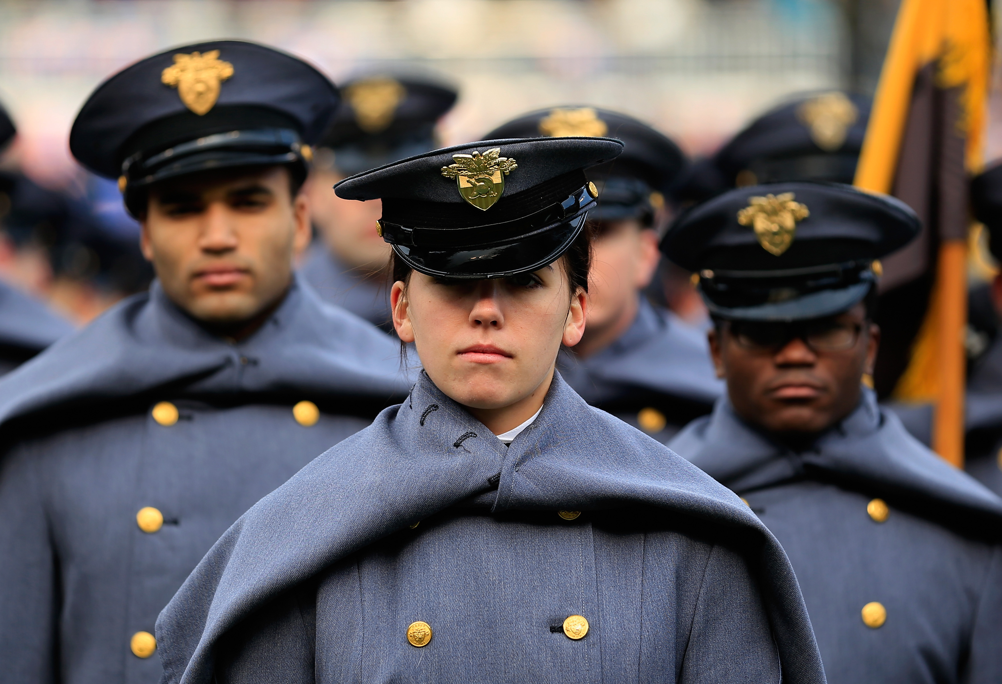 Cadets with the U.S. Military Academy at West Point