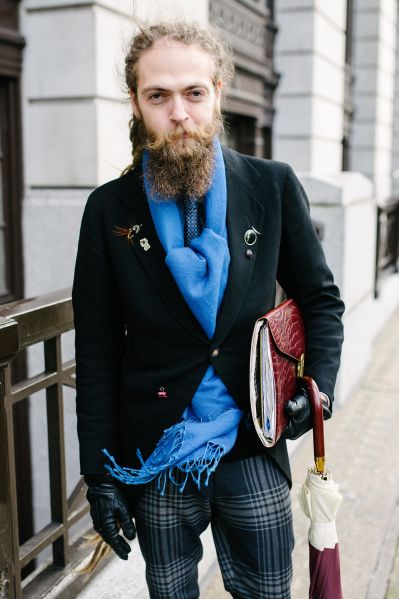 Bearded and in style