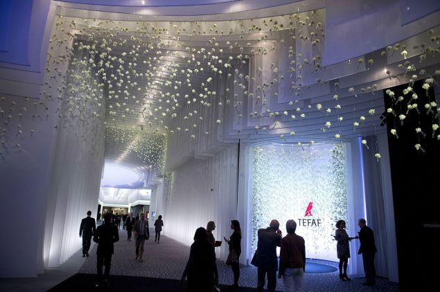 People visit the first day of the TEFAF art fair on March 13, 2015 in Maastricht, the Netherlands. From 13 to 22 March the fair will present ten thousands works of art and antique to collectors, traders and curators.