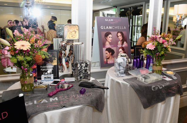 Glamsquad setup during REVOLVE Fashion and Festival Event at Avalon Palm Springs on April 11, 2015.