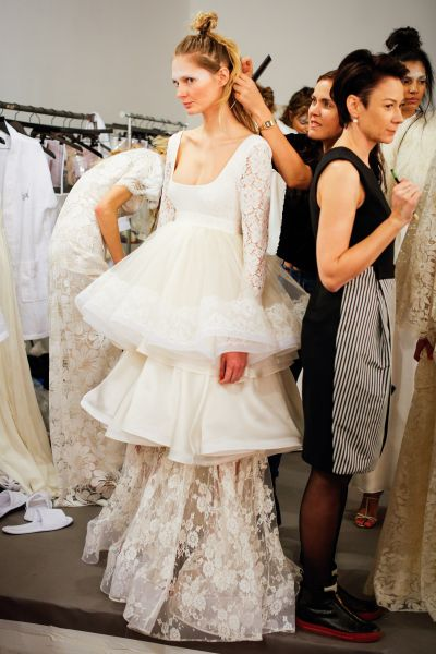 Behind the scenes at the Houghton Bridal Spring/Summer 2016 Runway Show