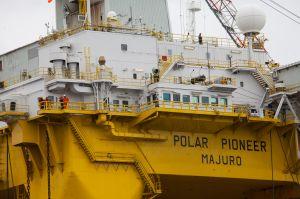 Royal Dutch Shell's Polar Pioneer oil drilling rig in Washington.