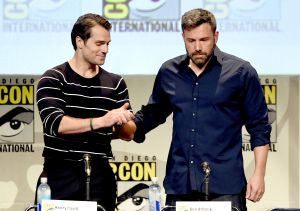 Henry Cavill and Ben Affleck at San Diego Comic Con.
