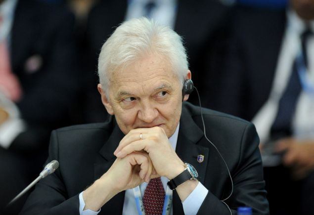 Russian billionaire Gennady Timchenko, who was targeted by the recent US sanctions over the Ukraine crisis, takes part in the St. Petersburg International Economic Forum 2014 (SPIEF 2014) in St. Petersburg on May 23, 2014. The Saint Petersburg Economic Forum is touted as Russia's answer to Davos, an annual meeting of global business leaders which President Vladimir Putin has attended every year since 2005 and often uses to sign major deals and rub shoulders with state leaders.