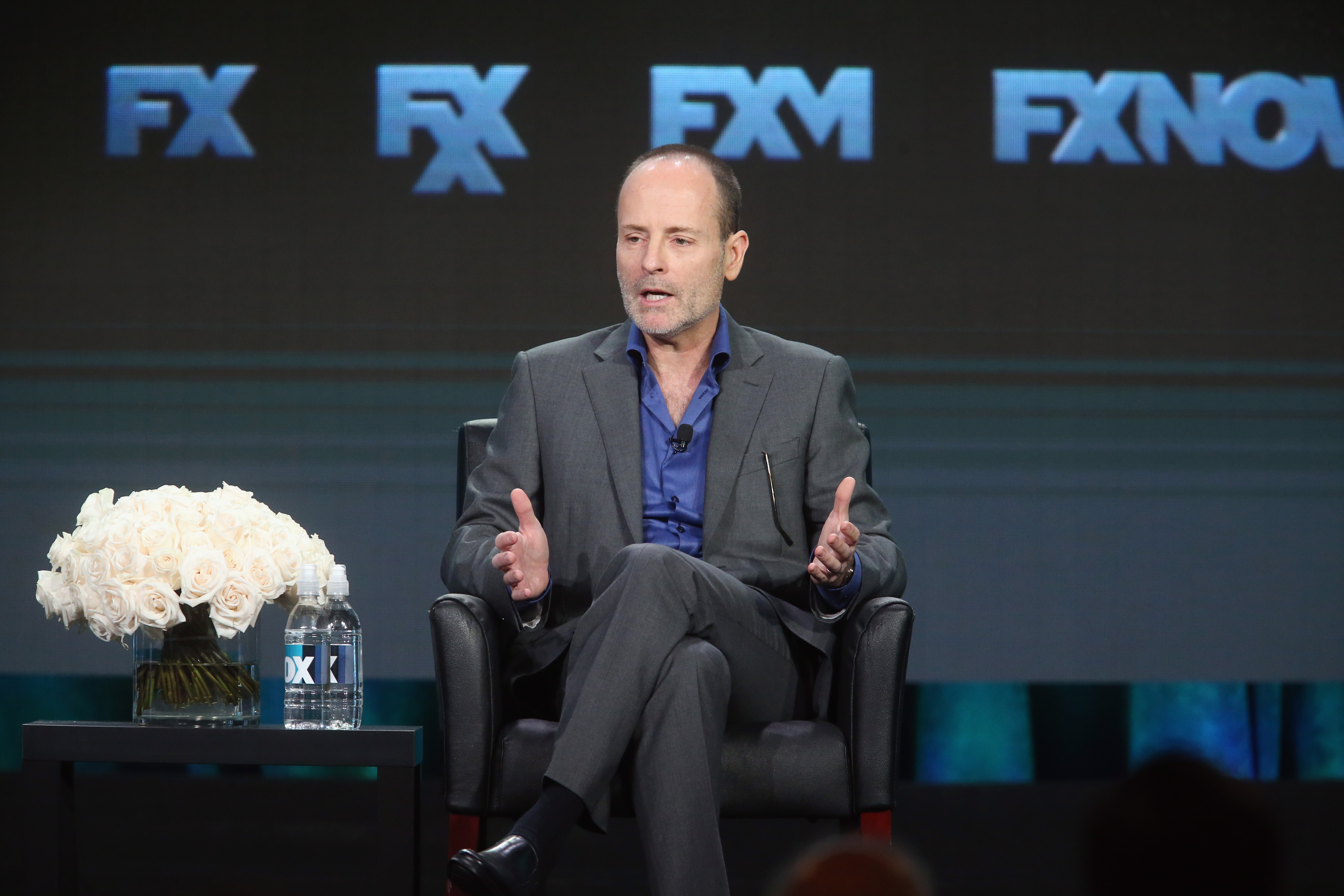 CEO, FX Networks and FX Productions John Landgraf speaks at the FX portion of the 2015 Winter TCA Tour.