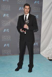 Screenwriter Josh Singer, winner of Best Original Screenplay for 'Spotlight,' at the Critics Choice Awards.