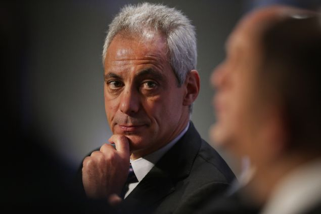 Chicago Mayor Rahm Emanuel participates in a panel discussion during the U.S. Conference of Mayors 84th Winter Meeting at the Capitol Hilton January 20, 2016 in Washington, DC. Emanuel talked about his experience during the recent upsurge in violence Chicago during the discussion about reducing violence and reinforcing trust between police and the community.