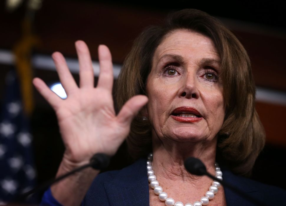 WASHINGTON, DC - FEBRUARY 04: U.S. House Minority Leader Rep. Nancy Pelosi (D-CA) speaks during a news conference February 4, 2016 on Capitol Hill in Washington, DC. Pelosi held the weekly news conference to answer questions from members of the media. (Photo by Alex Wong/Getty Images)