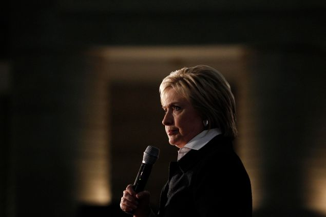 Democratic Presidential Candidate Hillary Clinton speaks at the Charles H. Wright Museum of African American History, March 7, 2016, in Detroit, Michigan. Clinton is campaigning in Michigan ahead of the primary on March 8.