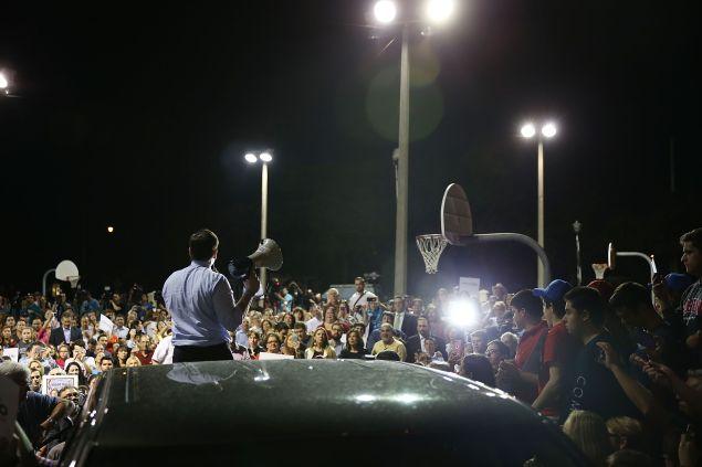 Sen. Marco Rubio in West Miami tonight.